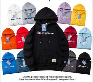 Champion Unisex Men Women Warm Hoodie Printing Sweatshirt Sport Sweater Jumper