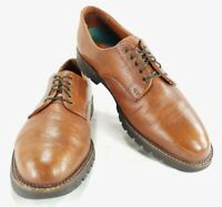 H.S Trask Authentic Bison Leather Mens Oxford Derby Shoes Sz 13 M
