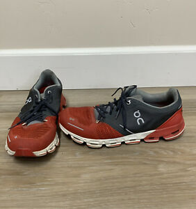 ON Cloud X Gray/red, Men's, Size M 9.5, preowned