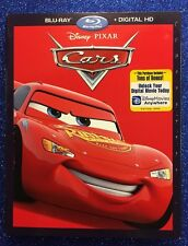 Cars  (Blu-ray/Digital HD, 2017) NEW w/ Slipcover; Disney-Pixar 100% Authentic