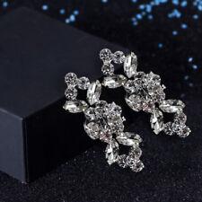1 Pair Elegant Crystal Flower Shoe Clips Buckle Wedding Bridal Party Décor