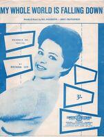 Sheet Music: MY WHOLE WORLD IS FALLING DOWN, BRENDA LEE (Australian issue)