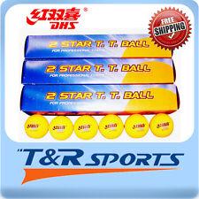 18x DHS 2 Star 40mm Table Tennis / Ping Pong WHITE Balls