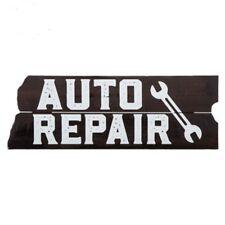 "Auto Repair Wood Wall Decor Sign 19"" X 6 1/2""  shop 69 Garage Hellcat"