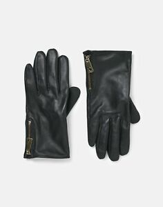 Joules Womens Mallory Leather Gloves - French Navy - M/L