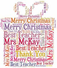 Personalised Christmas Gift Thank You Teacher Gift Teaching Assistant Gift