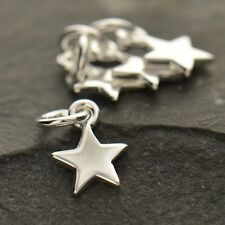 Star Charm 925 Sterling Silver Small Tiny Celestial for Necklace Women UK 862