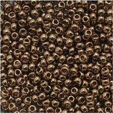 11/0 10 grams Gold Luster Montana Blue TOHO Round Seed Beads #204