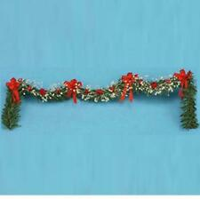 Dollhouse Christmas Staircase Garland Red & White mul4338 Miniature