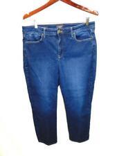 NYDJ 14P Sheri Slim Blue Jeans High Rise Skinny Lift Tuck Stretch Denim Petite