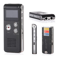 8 GB wiederaufladbare Stahl Digital Sound Voice Recorder Diktiergerät MP3 Player