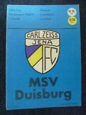 Programm 1978//79 Rot Weiß Erfurt Carl Zeiss Jena