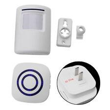 Wireless Motion Sensor Detect Security Entry Chime Alert Alarm Door Bell EU Plug
