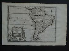 1729 Atlas Pieter VAN DER AA  map  SOUTH AMERICA - L'Amerique Meridionale