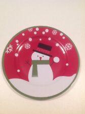 "Christmas Snowman Plate Melamine Plate 11"""