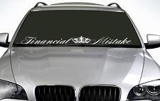 90cm errore finanziario qualsiasi colore Parabrezza Adesivo JDM Sport Decalcomania in Vinile per Auto