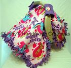 MY LITTLE PONY FLEECE / INFANT / BABY CAR SEAT CANOPY / TENT / COVER - HANDMADE