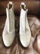 Nwt Rag and Bone Walker II Chelsea Bootie Shoes Pull-On Lt Grey Seuede Sz 6 $485