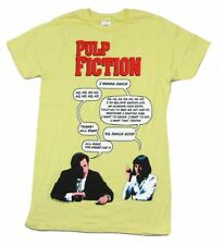 Pulp Fiction I Wanna Dance Yellow T Shirt Small New NOS Official 2010 Movie