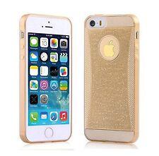 Coque Gel TPU souple effet strass brillant pour iPhone 5 /5S Transparent  Doré