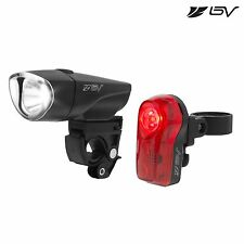 BV Bike Light 1-Watt Headlight 1/2 Watt Rear Taillight Water Resistant NEW L808