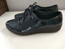 Fitflop Derby Patent  Lace Up Shoes Navy Size 7 uk Ladies Womens