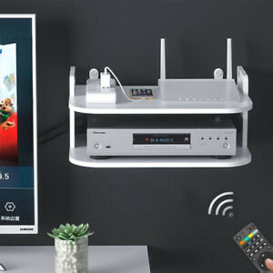 Wall Shelf Rack for Router Container DVD SKY BOX TV PS4 Wall Mounted Floating UK
