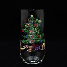 Holiday Hostess Christmas Tree Tall Drinking Tumbler Glass 14 oz