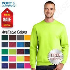 Port & Company Men's Long Sleeve Rib Knit Collar Crewneck Sweatshirt PC78