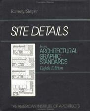 Site Details from Architectural Graphic Standards, 8th Edition