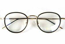 Vintage Round Spectacles Eyeglasses men John Lennon Glasses Gold/Black eyewear