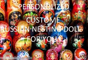 UNIQUE PERSONALIZED DOLL RUSSIAN DOLL BABUSHKA Matryoshka Gift Customized doll