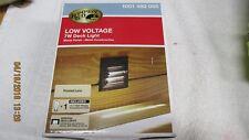 Hampton bay Halogen 7w Black Deck Light Low Voltage Half Brick New