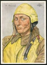 Artist Signed WOLFGANG WILLRICH  03  GERMANY  THIRD REICH  MILITARY  Postcard