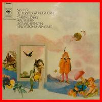 "MAHLER DES KNABEN WUNDERHORN LUDWIG WALTER BERRY LEONARD BERNSTEIN 12"" LP (B840)"
