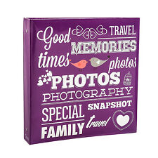 Arpan Brand Large Slip In Photo Album Holds 500 Photos 6x4'' Purple AL-9574