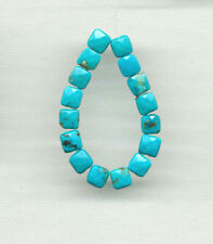"""FACETED HUBEI CLOUD MOUNTAIN 6x6MM SQUARE BEADS - 4"""" Strand - 0386"""