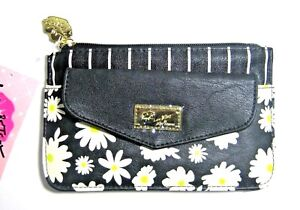 BETSEY JOHNSON LBFLAPPY POUCH PACKET TOP ZIP Floral Wallet