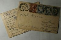 US Sc#206 210 Used On Cover 1894 NY to Germany Letter Contents Pair german