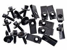 Chevy Body Bolts & U-nut Clips- M6-1.0mm x 22mm Long- 8mm Hex- Qty.10 ea.- #137