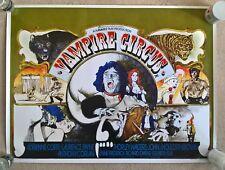 THE VAMPIRE CIRCUS   , REPRODUCTION UK QUAD CINEMA  POSTER 30 X 40