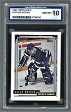 1992 Topps Gold Felix Potvin Maple Leafs #3 Rookie ISA 10 #52758206