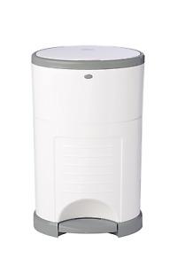 Diaper Pail Waste Storage Basket Bucket Odor Control Plastic Trash Can White