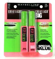 Maybelline Great Lash 502 101 Very Black & Great Lash Big 130 Blackest Black