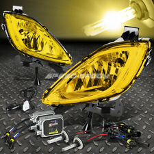 YELLOW AMBER LENS BUMPER FOG LIGHT+SWITCH+BULB+3000K HID KIT FOR 11-13 MD/UD