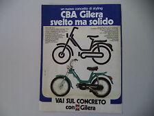 advertising Pubblicità 1977 GILERA CBA 50