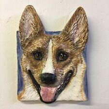 Basenji Ceramic dog tile basRelief Ceramic Pet Portrait Alexander In Stock