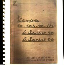Vespa  Sprint  Catalog Of Spare Pts. For For 50/50S-90-125/S-50S-Sprint 90  FSH