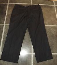 Señoras TOPSHOP Moto Pantalones Informales Negro 3/4 UK 12 EUR 40