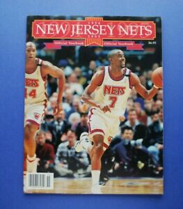 1994-95 New Jersey Nets Official Basketball Yearbook NM Kenny Anderson cover